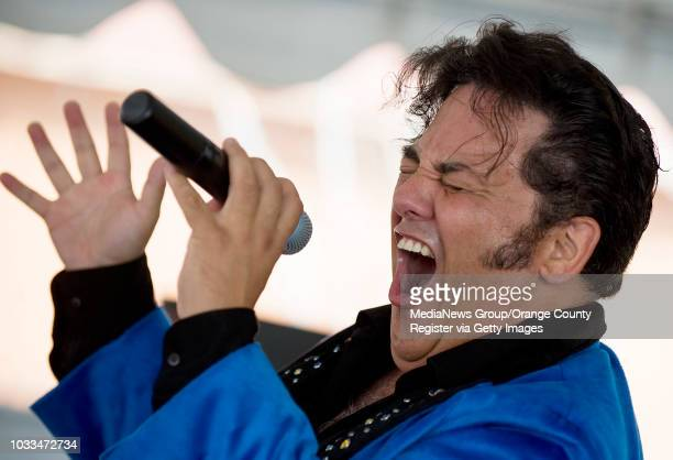 Elvis impersonator Martin Anthony sings like The King during the 17th Annual Elvis Festival in Garden Grove on Sunday ÒThe King Lives On' event paid...