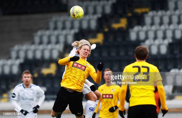 Elvis Lindkvist of BK Hacken during the PreSeason Friendly match between BK Hacken and Sarpsborg 08 FF at Bravida Arena on January 26 2019 in...