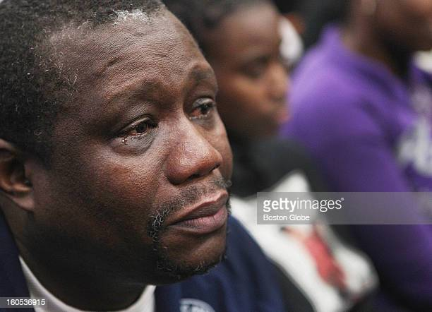 Elvis Martin father of deceased Simba Martin shed a tear as he listened to victim impact statements in the sentencing of Dwayne Moore during the...