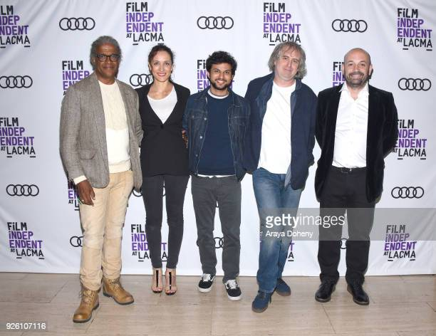Elvis Mitchell Ana Asensio Amman Abbasi Michael O'Shea and Antonio Mendez Esparza attend the Film Independent at LACMA hosts special screening of 'A...
