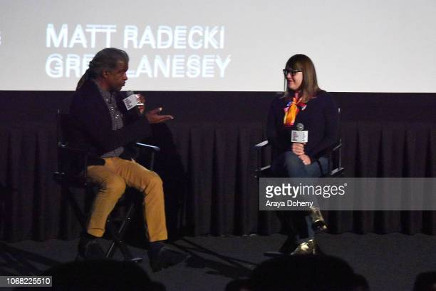 Elvis Mitchell and Heather Lenz attend the Film Independent Special Screening of 'Kusama Infinity' at ArcLight Sherman Oaks on December 3 2018 in...