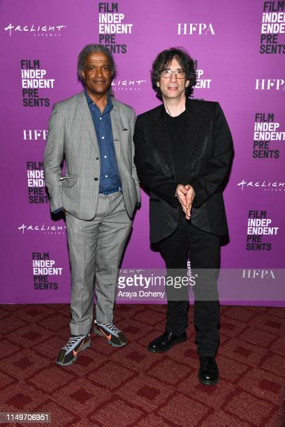 Elvis Mitchell and Neil Gaiman at Film Independent presents special screening of Good Omens at ArcLight Hollywood on May 16 2019 in Hollywood...