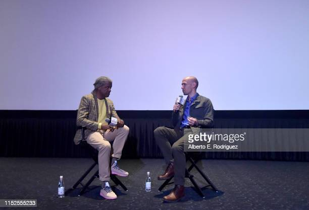 Elvis Mitchell and Richard Rowley attend Film Independent Presents 16 Shots special screening and QA at ArcLight Hollywood on May 29 2019 in...