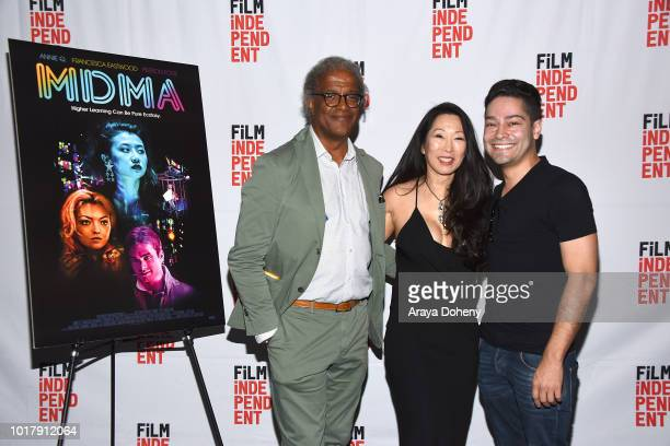 Elvis Mitchell Angie Wang and Richard J Bosner attend Film Independent presents special screening of 'MDMA' at The WGA Theater on August 16 2018 in...