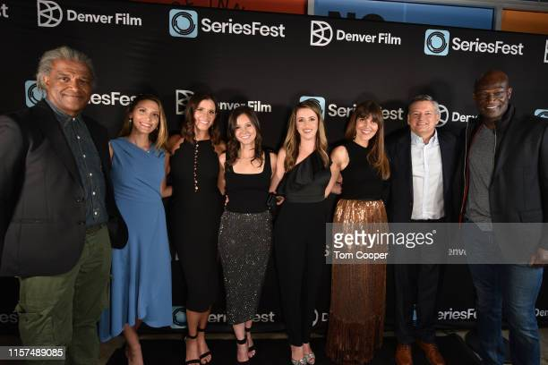 Elvis Mitchell Michelle Fries Kaily Smith Westbrook Randi Kleiner Allison Greenburg Millice Betsy Leighton Ted Sarandos and Peter Mensah at...
