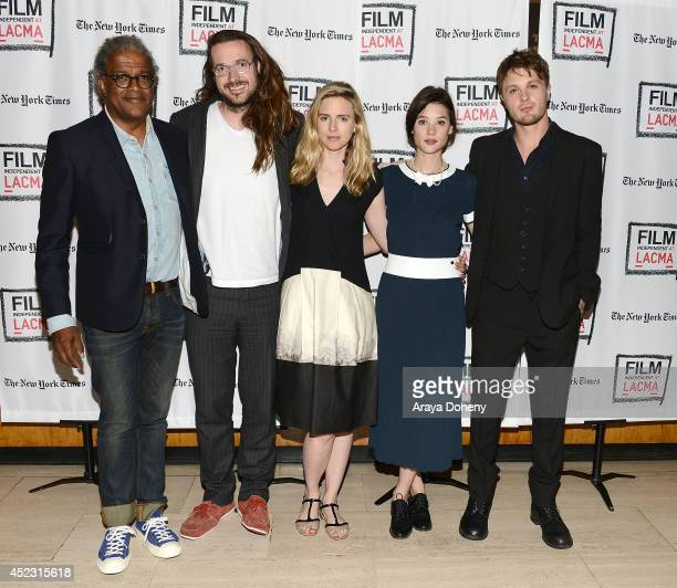 Elvis Mitchell Mike Cahill Brit Marling Astrid BergesFrisbey and Michael Pitt attend the Film Independent at LACMA presents a special screening and...