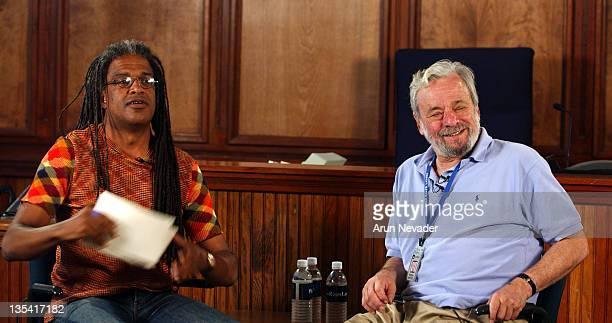 Elvis Mitchell of The New York Times and Stephen Sondheim