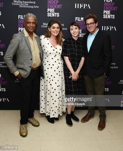 Elvis Mitchell Rachel Bleemer Rebecca GillilandMontalvo and Josh Welsh attend Film Independent's Live Read of When Harry Met Sally at the Wallis...