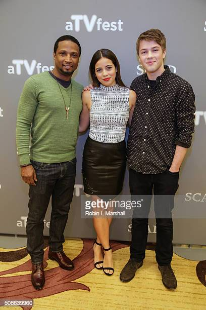 Elvis Nolasco Angelique Rivera and Connor Jessup attend 4th Annual aTVfest on February 5 2016 in Atlanta Georgia