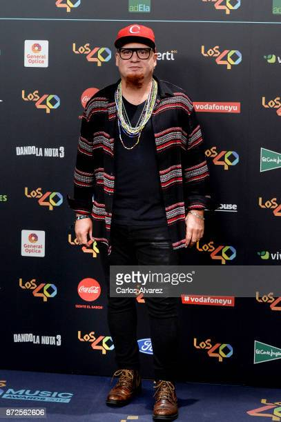 Elvis Ochoa attends 'Los 40 Music Awards' photocall at WiZink Center on November 10 2017 in Madrid Spain