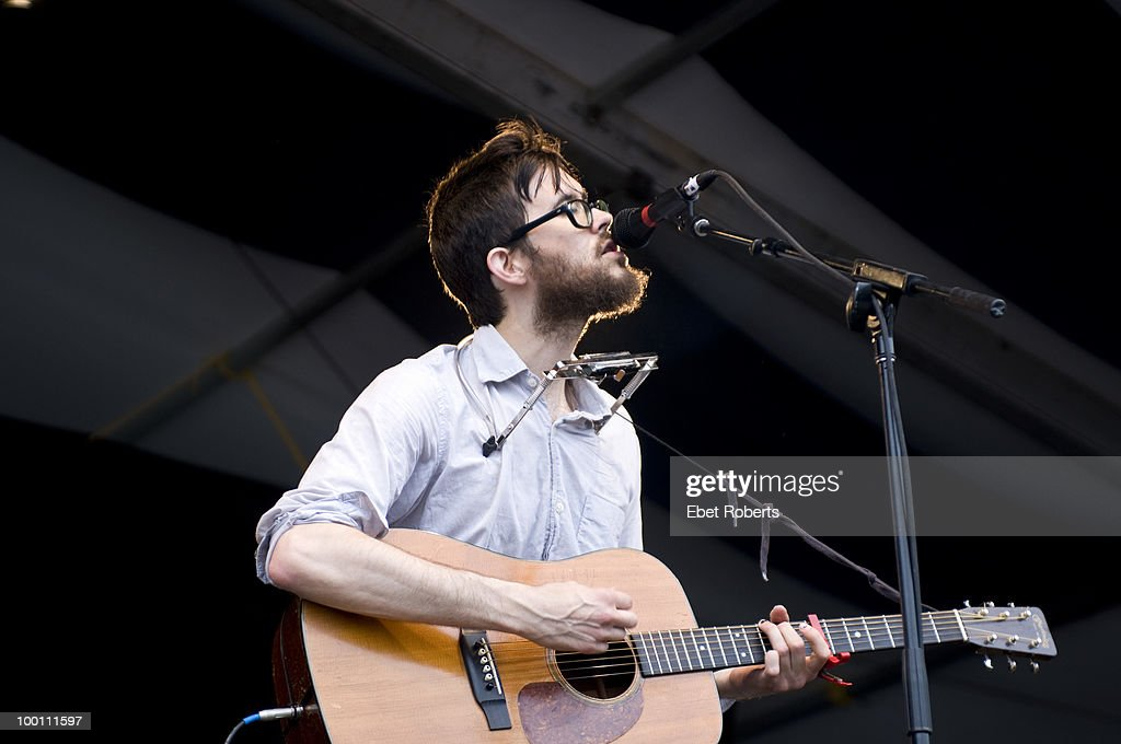 Elvis Perkins in Dearland performs at the New Orleans Jazz & Heritage Festival on April 30, 2010 in New Orleans, Louisiana.