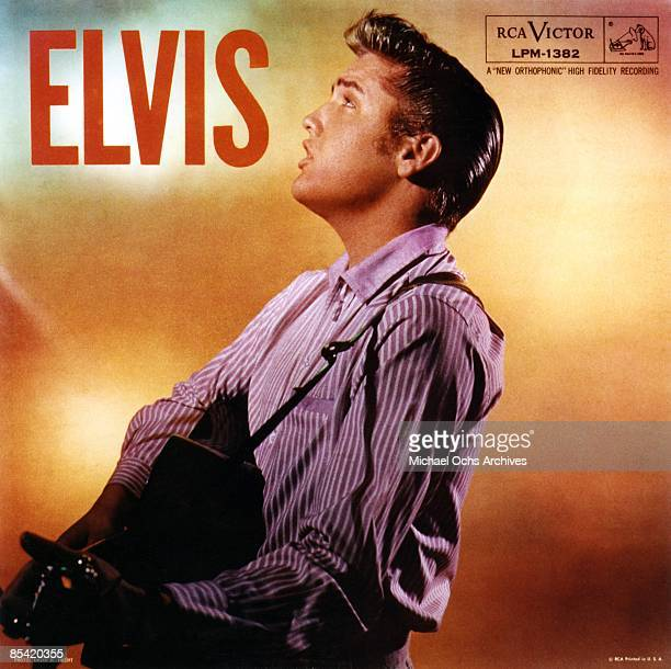 Elvis Presley album cover for 'ELVIS' released in 1956 by RCA