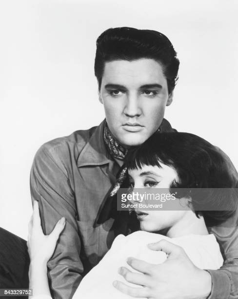 Elvis Presley and Carolyn Jones promoting King Creole directed by Michael Curtiz