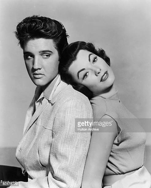 Elvis Presley and Judy Tyler star in the musical film 'Jailhouse Rock' 1957