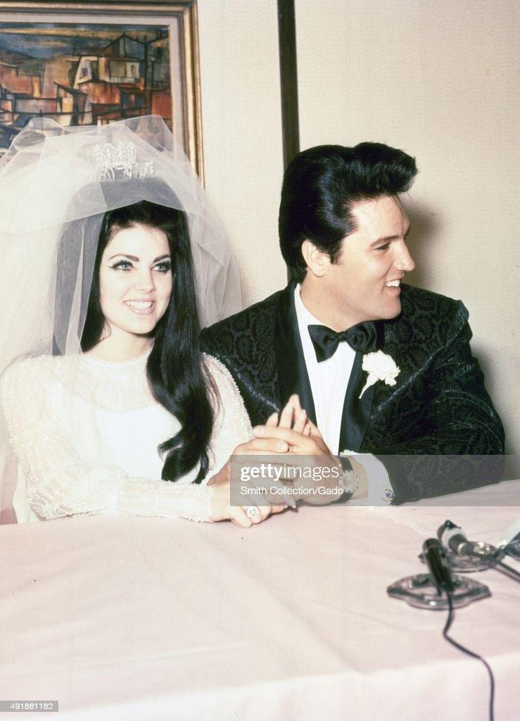 Elvis Presley And Priscilla : Photo d'actualité
