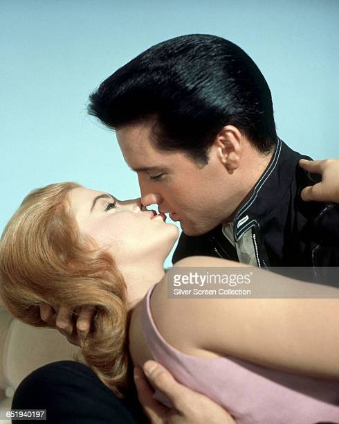Elvis Presley as Lucky Jackson and AnnMargret as Rusty Martin in the film 'Viva Las Vegas' 1964