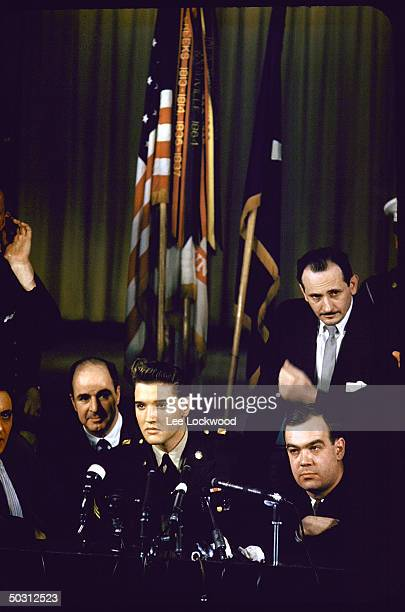 Elvis Presley at his press conference upon leaving the army