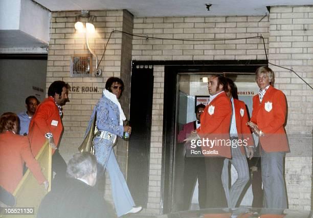 Elvis Presley during Elvis Performing in Concert at Madison Square Garden at Madison Square Garden in New York City New York United States