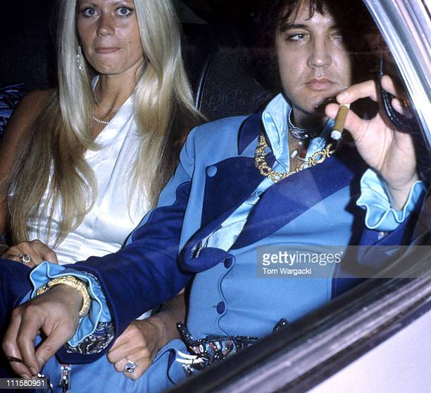 Elvis Presley during Elvis Presley Arrives At The Hilton Inn June 21 1973 at The Hilton Inn JFK Airport in New York NY United States