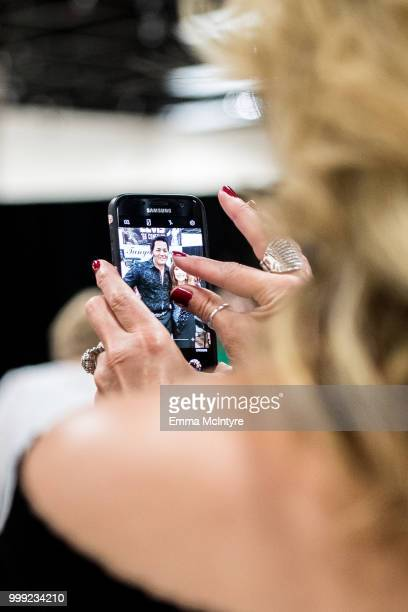 Elvis Presley fans attend the Las Vegas Elvis Festival at Sam's Town Hotel Gambling Hall on July 14 2018 in Las Vegas Nevada