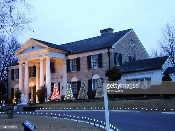 Elvis Presley House Graceland at the Graceland: The Memphis Home of Elvis Presley in Memphis, Tennesee