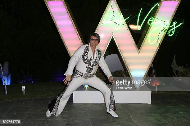 Elvis Presley impersonator attends W Las Vegas hosts private preview at W Los Angeles West Beverly Hills on November 2 2016 in Los Angeles Californi
