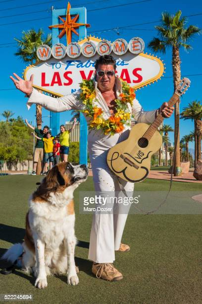 Elvis Presley impersonator on Las Vegas Boulevard