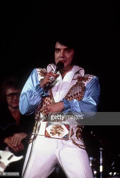 Elvis Presley in concert circa 1975