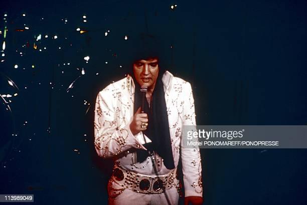 Elvis Presley on stage In Las Vegas United States In 1972
