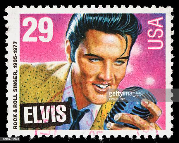 usa elvis presley postage stamp - elvis presley stock pictures, royalty-free photos & images