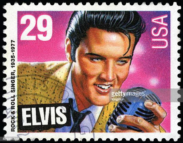 elvis presley postage stamp - elvis presley stock pictures, royalty-free photos & images