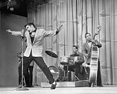 Elvis presley rock and roll star of the 1950s performing on stage picture id517331138?s=170x170