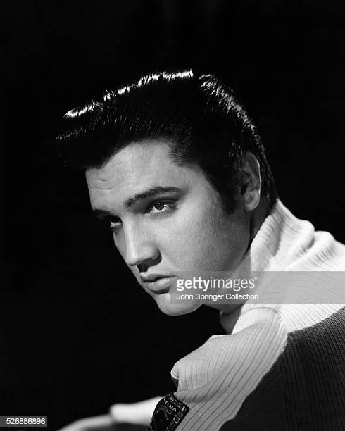 Elvis Presley Wearing a Turtleneck