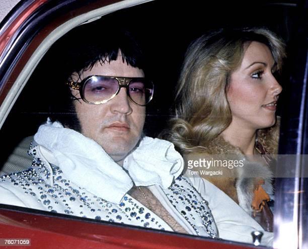 Elvis Presley with girlfriend Linda Thompson