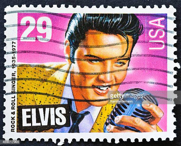 elvis stamp - early rock & roll stock photos and pictures