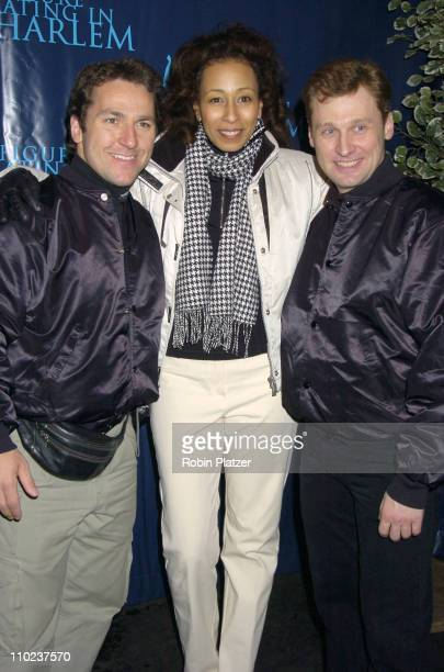 Elvis Stojko, Tamara Tunie and Victor Petrenko during Figure Skating in Harlem - Benefit Skating with the Stars at Wollman Rink in New York, New...