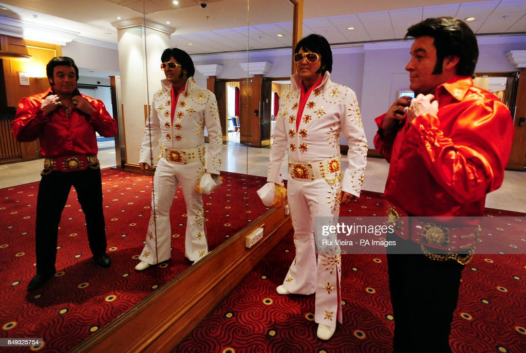 Elvis tribute artists Carl Ryder from Birmingham and Steve Storm (right) from Manchester make  sc 1 st  Getty Images & European Elvis Championships - Birmingham Pictures | Getty Images