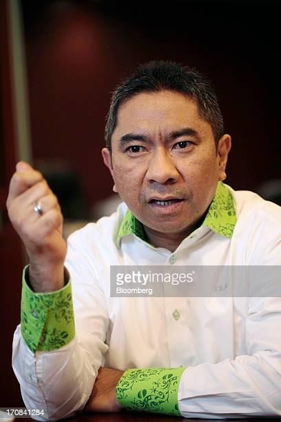 Elvyn Masassya president director of PT Jamsostek speaks during an interview at his office in Jakarta Indonesia on Monday June 17 2013 PT Jamsostek...