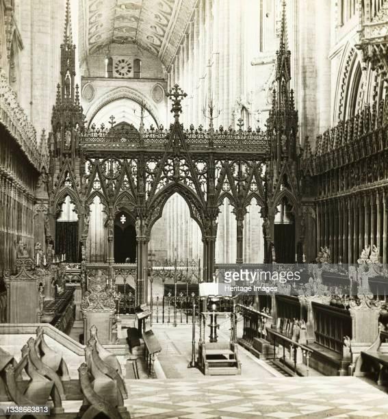 Choir to West, 1891. Lantern slide. Artist Frederick Henry Evans.