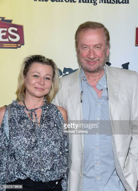 Elya Baskin and guest attend the Los Angeles engagement of Beautiful The Carole King Music at the Pantages Theatre on September 13 2018 in Hollywood...