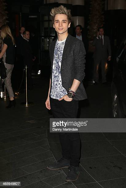 Elyar Fox attends 'Kate Moss At The Savoy' an exhibition of never before seen photographies of Kate Moss at The Savoy Hotel on January 30 2014 in...