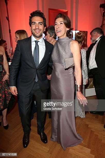 Elyas M' Barek and Adele Neuhauser during the 27th ROMY Award 2015 at Hofburg Vienna on April 16 2016 in Vienna Austria