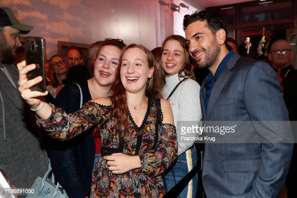 Elyas M'Barek and fans during the Der Fall Collini premiere at Astor Filmlounge Hafen City on April 13 2019 in Hamburg Germany