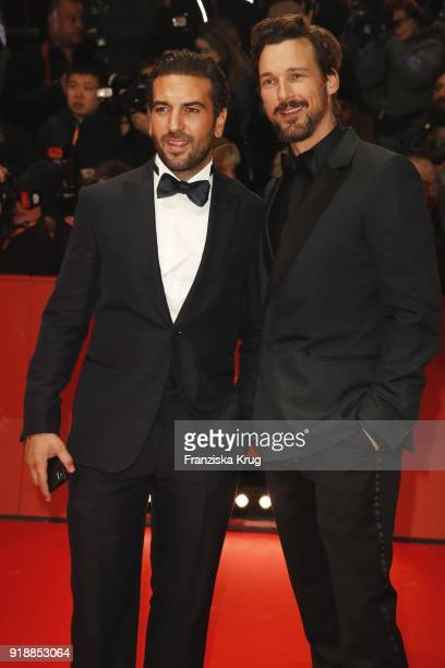 Elyas M'Barek and Florian David Fitz attend the Opening Ceremony 'Isle of Dogs' premiere during the 68th Berlinale International Film Festival Berlin...