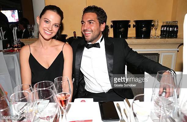 Elyas M'Barek and girlfriend Julia Czechner during the German Film Ball 2016 at Hotel Bayerischer Hof on January 16 2016 in Munich Germany doppelter...