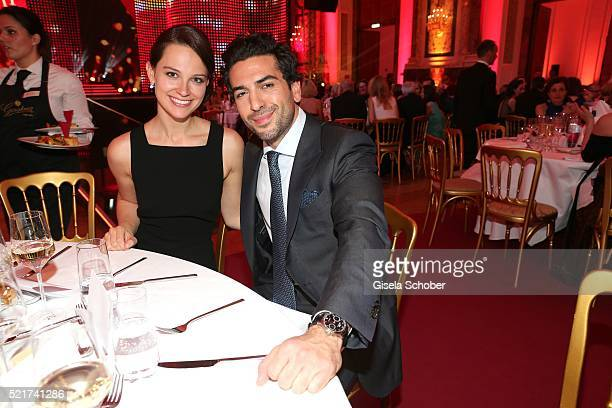 Elyas MBarek and his girlfiend Julia Czechner during the 27th ROMY Award 2015 at Hofburg Vienna on April 16 2016 in Vienna Austria