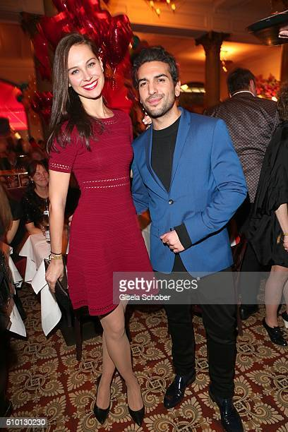 Elyas M'Barek and his girlfriend Julia Czechner during the Bild 'Place to B' Party at Borchardt during the 66th Berlinale International Film Festival...