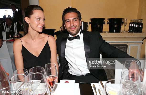 Elyas M'Barek and his girlfriend Julia Czechner during the German Film Ball 2016 party at Hotel Bayerischer Hof on January 16 2016 in Munich Germany
