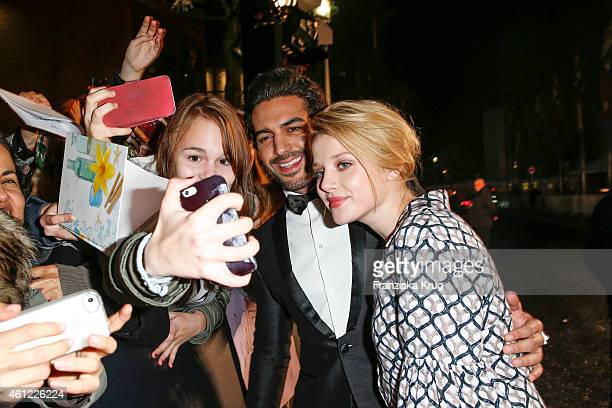 Elyas M'Barek and Jella Haase arrive at the Bambi Awards 2014 on November 13 2014 in Berlin Germany