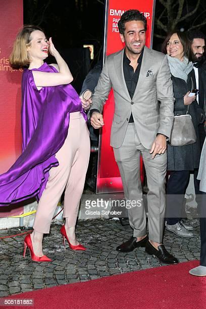 Elyas M'Barek and Karoline Herfurth during the Bavarian Film Award 2016 at Prinzregententheater on January 15 2016 in Munich Germany